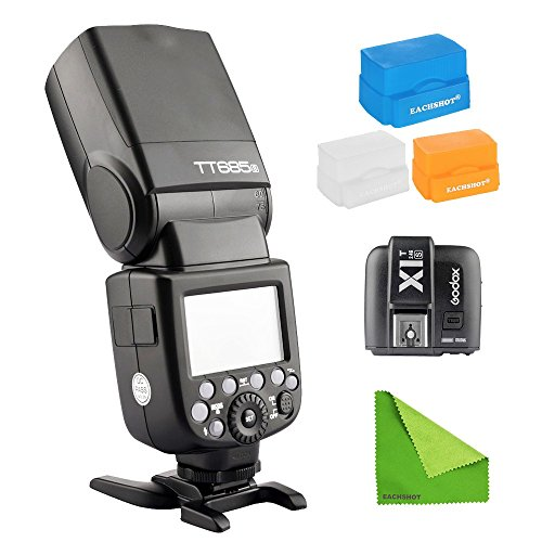 Godox-TT685S-24G-HSS-18000s-TTL-GN60-Wireless-Speedlite-Flash-Transmitter-XT1S-for-Sony-A7-A7R-A7S-A7-II-A7R-II-A7S-II-A6300-A6000-with-EACHSHOT-Cleaning-Cloth