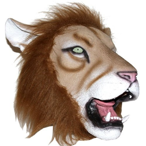 Realistic Lion Head Rubber Mask Adult Costume