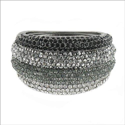 Designer Inspired Stone Hinged Bracelet #038621