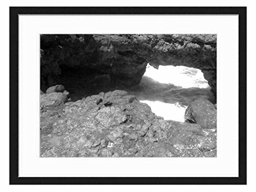pont naturel - Art Print Wall Solid Wood Framed Picture (Black & White 20x14 inches)