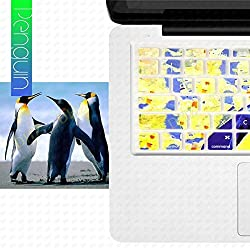 DHZ Cute Penguin Keyboard Cover Silicone Skin for MacBook Air 13
