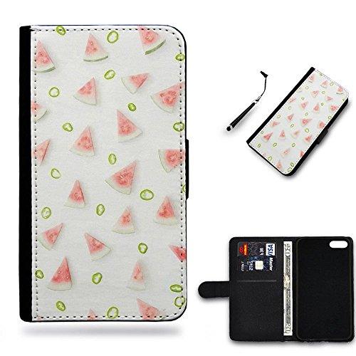 Your Choice Phone Case / Cellulare cassa del cuoio della calotta di protezione di caso Custodia protettiva per Samsung Galaxy Note 5 // watermelon green pepper rings Fruit