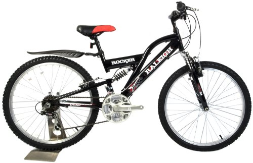 Raleigh Rocker Boys Mountain Bike - Black, 13 Inch