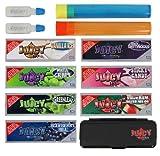 Bundle - 12 Items - Juicy Jays 1 1/4 Superfine Rolling Paper Deluxe Sampler