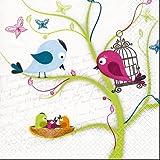 Serviette-Family-Tweety-Frhlingsserviette-Papierservietten-Kunstdruck-20-Stck-Tischdekoration-Frhlingsdeko