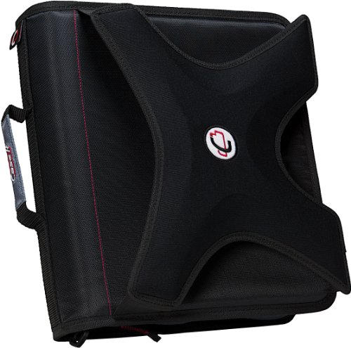 case-it-x-hugger-2-inch-round-ring-zipper-binder-with-book-holder-on-front-black-x-351-blk