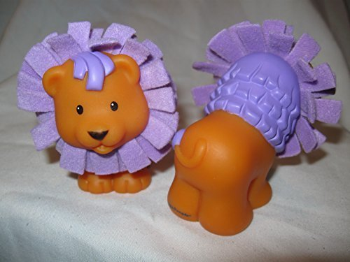 Fisher Price Little People Amazing Animals Circus Touch & Feel Purple Mane Lion Zoo Ark Animal OOP 2005 - 1