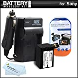 Replacement NP-FV70 Battery And Charger Kit For Sony HDR-PJ430V HD Camcorder Includes Extended Replacement (2300Mah) NP-FV70 Battery + Ac/Dc Travel Charger + MicroFiber Cloth + More