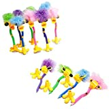 Dozen Assorted Color Plush Feather Boa Topper Duck Design Pens - 7 by Rhode Island Novelty