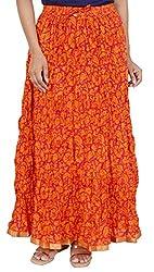 Rangreja Women's Skirt (WSK130RO36_Orange_36)