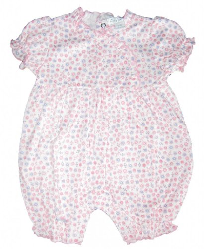 Kissy Kissy Baby-Girls Infant Smitten Kittens Short Playsuit-Pink-12-18 Months front-1038834