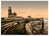 Victorian View of the Lighthouse, Hunstanton, Norfolk, England, Large A3 size 41 by 28 cm Canvas Textured Fine Art Paper Photo Print