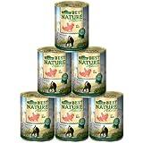 Dehner Best Nature Katzenfutter Adult Lachs und Huhn, 6 x 400 g (2.4 kg)