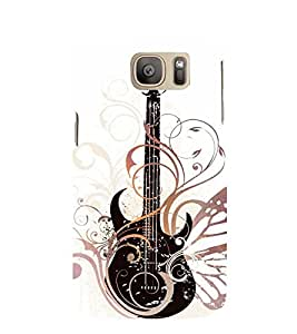 Vintage Fashion Guitar 3D Hard Polycarbonate Designer Back Case Cover for Samsung Galaxy S7 Edge :: Samsung Galaxy S7 Edge Duos G935F