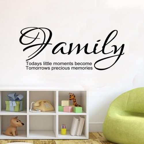 Family Todays Little Moments Inspirational Home Wall Sticker Lounge Vinyl Decal 100X55 (Colour) front-1083709