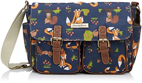 freddie-fox-squirrel-print-twin-pocket-school-satchel-bag