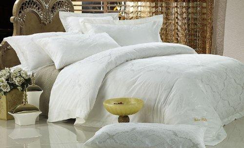 Dolce Mela Dm446Q Antoinette 6-Piece Percale Jacquard Cotton Duvet Cover Set, Queen front-9503