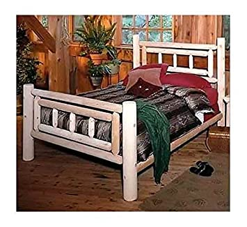Deluxe Cedar Log Style Bed (King)