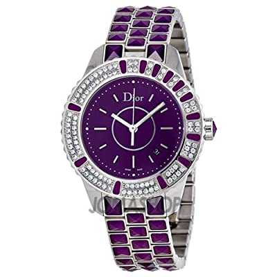Christian Dior Women's CD11311JM001 Christal Purple Dial Diamond Watch from Christian Dior