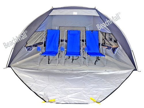Jumbo Deluxe Beach Shelter with Ventilation Panels and Door - UPF 120+
