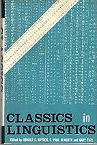 Classics in Linguistics by Gary Hayden Paul…