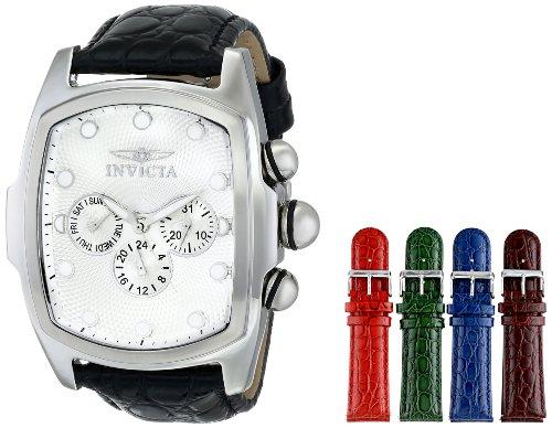 Invicta Men's 1027 Lupah Analog Display Swiss Quartz Black Watch