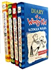 Diary of a Wimpy Kid Collection 4 Books Set (The Last Straw, Rodrick Rules, Dog Days, Diary of A Wimpy Kid, Dog Days Hardback rest are Paperback)