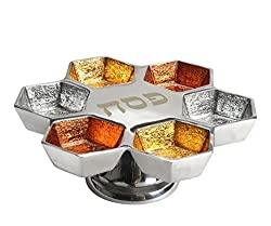 Aluminum Elevated Seder Plate (Orange Mix)