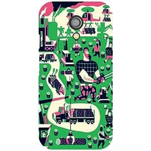 Motorola Moto G (2nd Gen) Back Cover - City Life Designer Cases