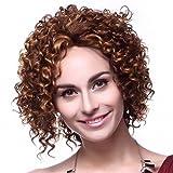 Fashion Short Elegant Brown Fluffy Wig Delicate Women Lady Full Wig Cosplay Wig