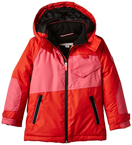 ESPRIT Mädchen Jacke 085EE7G003, Mehrfarbig, Gr. 104 (Herstellergröße: 104/110), Rot (RED 630)
