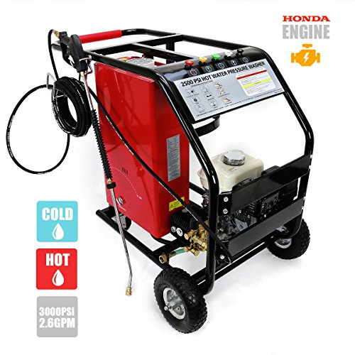 3,000 PSI 2.6 GPM High Pressure Washer w/ Hot and Cold Water Commercial Grade, Powered by Honda (Honda Commercial Pressure Washer compare prices)