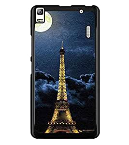 PrintDhaba Tower D-3849 Back Case Cover for LENOVO A7000 TURBO (Multi-Coloured)