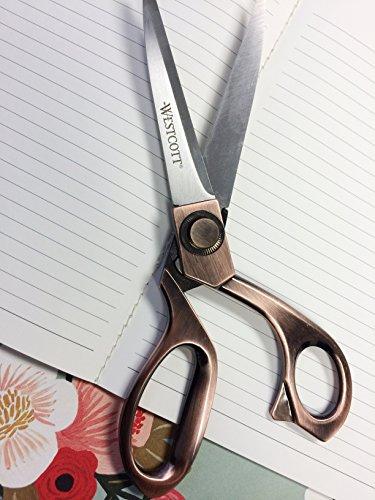 Westcott 8-Inch Bent Scissors, Vintage Copper Finish (16459) 3