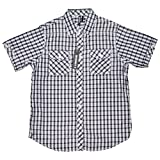 G Zap Men's Short Sleeve Plaid Button Up Tee