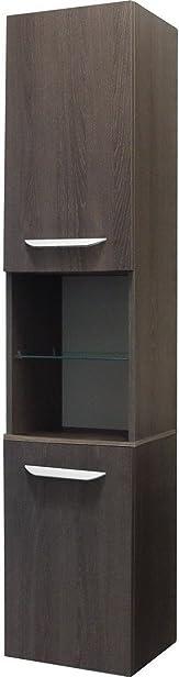 Fackelmann LAVELLA armadio alto a destra, in legno di quercia Cognac/quercia Cognac/mobili da bagno