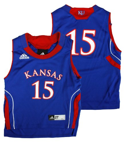 Kansas Jayhawks Ncaa #15 Toddler Replica Jersey, Royal Blue (2 Toddler) front-963317