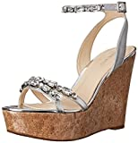 Nine West Womens Admiral Synthetic Wedge Sandal