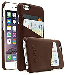 iPhone 6/6s Case, Bastex Premium High Quality Genuine Leather Slim Fit Snap On Executive Wallet Card Case for iPhone 6/6s