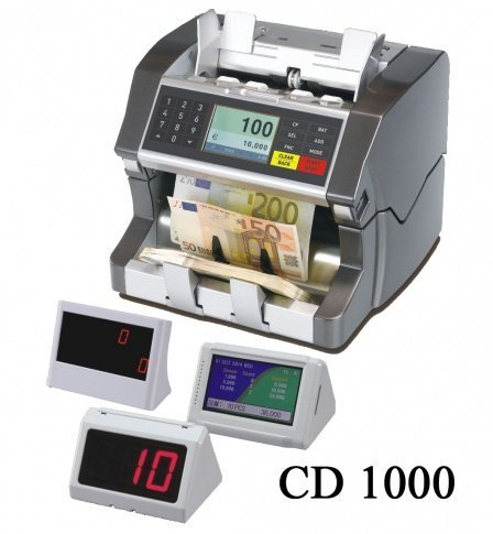 CD-1000 UAE Dirham (AED) and US Dollar (USD) Mixed Denomination Money Value Bill Counter and Sorter One Pocket Multiple Currency Discriminator and Currency, Money and Bill Counterfeit Detector Machine (Aed Machine compare prices)