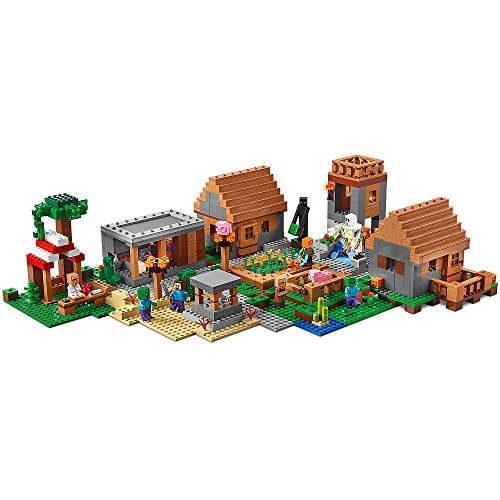LEGO Minecraft The Village with 4 Minifigures and Accessory Elements Set Collectible Toys