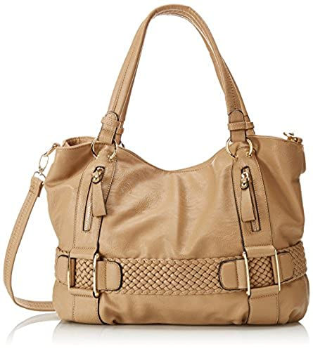 01. MG Collection Weave Pattern Belt Accent Soft Hobo Shoulder Bag