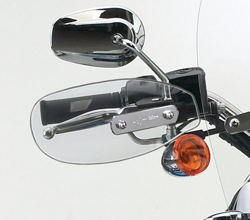 National Cycle Clear Hand Deflectors<br> for Harley Davidson 84-09 Softail, 70-09 FX/DYNA/Wide Glide, 90-09 FLSTF, 97-05 FLSTS, 83-03XL (National Cycle compare prices)