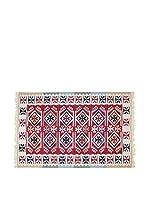 Tapis a Porter Alfombra Doubleface Sultan Rojo/Marfil/Multicolor 100 x 200 cm
