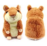 Nicerocker Xmas Mimicry Pet Hamster Talking Plush Animal Toy with Electronic Hamster Mouse for Kids
