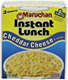 Maruchan Instant Lunch, Cheddar Cheese, 2.25-Ounce Packages (Pack of 12)