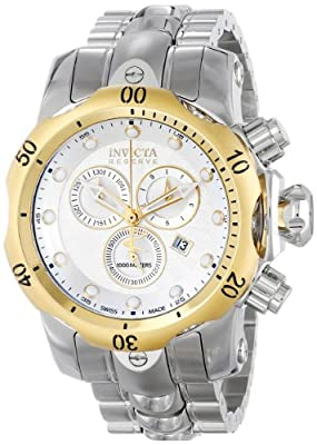 Invicta Men's INVICTA-10800 Venom Analog Display Swiss Quartz Silver Watch
