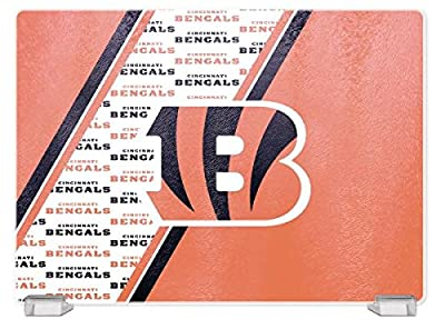 NFL Cincinnati Bengals Glass Cutting Board