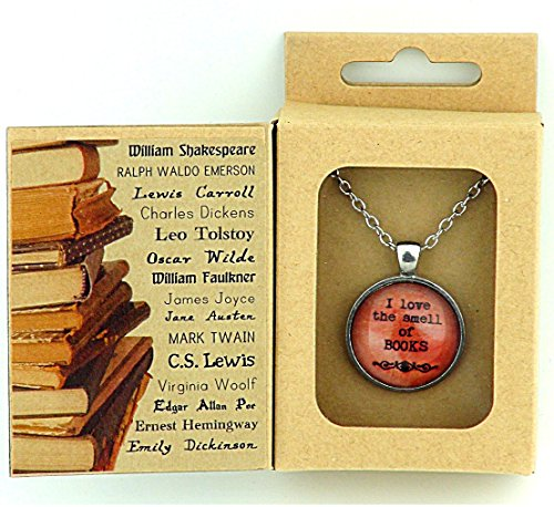 BOOK LOVER'S VINTAGE STYLE PENDANT IN