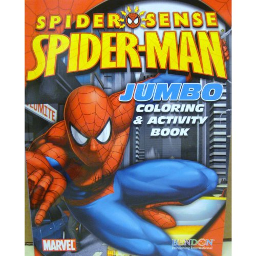 Book Cover Art Activity : Spider man coloring activity book cover art may vary